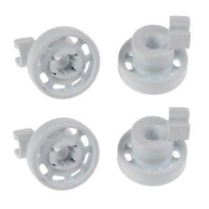 4 X Lave-Vaisselle Haut Panier Supérieur Rail Roues Set Pour Bosch Neff &