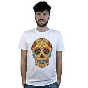T-shirt-Mexican-Skull-with-crucifix-T-shirt-white-style-Tattoo-Rock