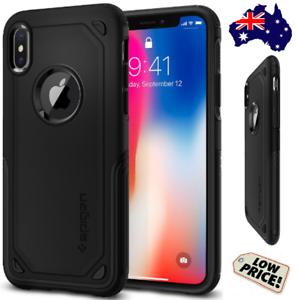 outlet store 6fad1 507de Details about SPIGEN iPhone 8 Plus X XR XS MAX HYBRID ARMOR Phone Case  Mobile Cover Soft Tough