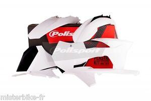 Kit-plastiques-Coque-Polisport-KTM-SX-F-250-350-450-Annee-2011-Couleur-Blanc