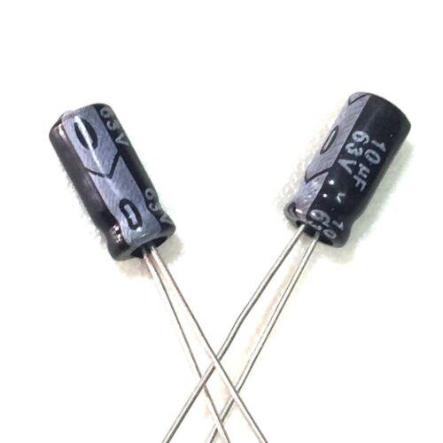 100pcs 63v 10uf 63volt 10mfd 105c aluminum electrolytic capacitor 5×11mm radial