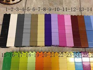 8-lego-duplo-2X2-brick-gold-white-black-lime-pink-gray-purple-lavender-orange