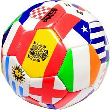 FIFA WORLD CUP FULL SIZE SOCCER BALL INTERNATIONAL COUNTRY FLAGS OFFICIAL SIZE 5