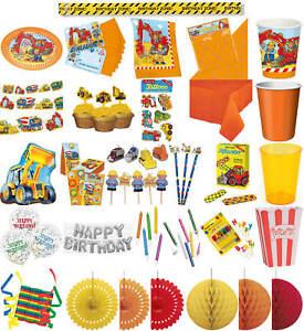 Kinder Geburtstag Party Deko Fete Feier Motto Bagger Baustelle Ebay
