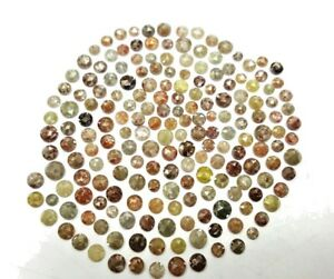 Natural-Diamond-lot-1-TCW-Scoop-Mix-color-2-5-4-5-MM-Round-Rose-cut-Low-Price