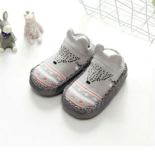 Baby Anti-slip Socks Rubber Sole Silicone Toddler Child Shoes Walkers Footwear