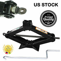 2 Ton Scissor Wind Up Jack Car Van Lift Tool-2000 Kg With Crank Speed Handle