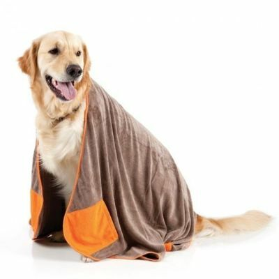 Fuzzyard Microfibre Pet Towel with Hand Pockets - Gift Boxed