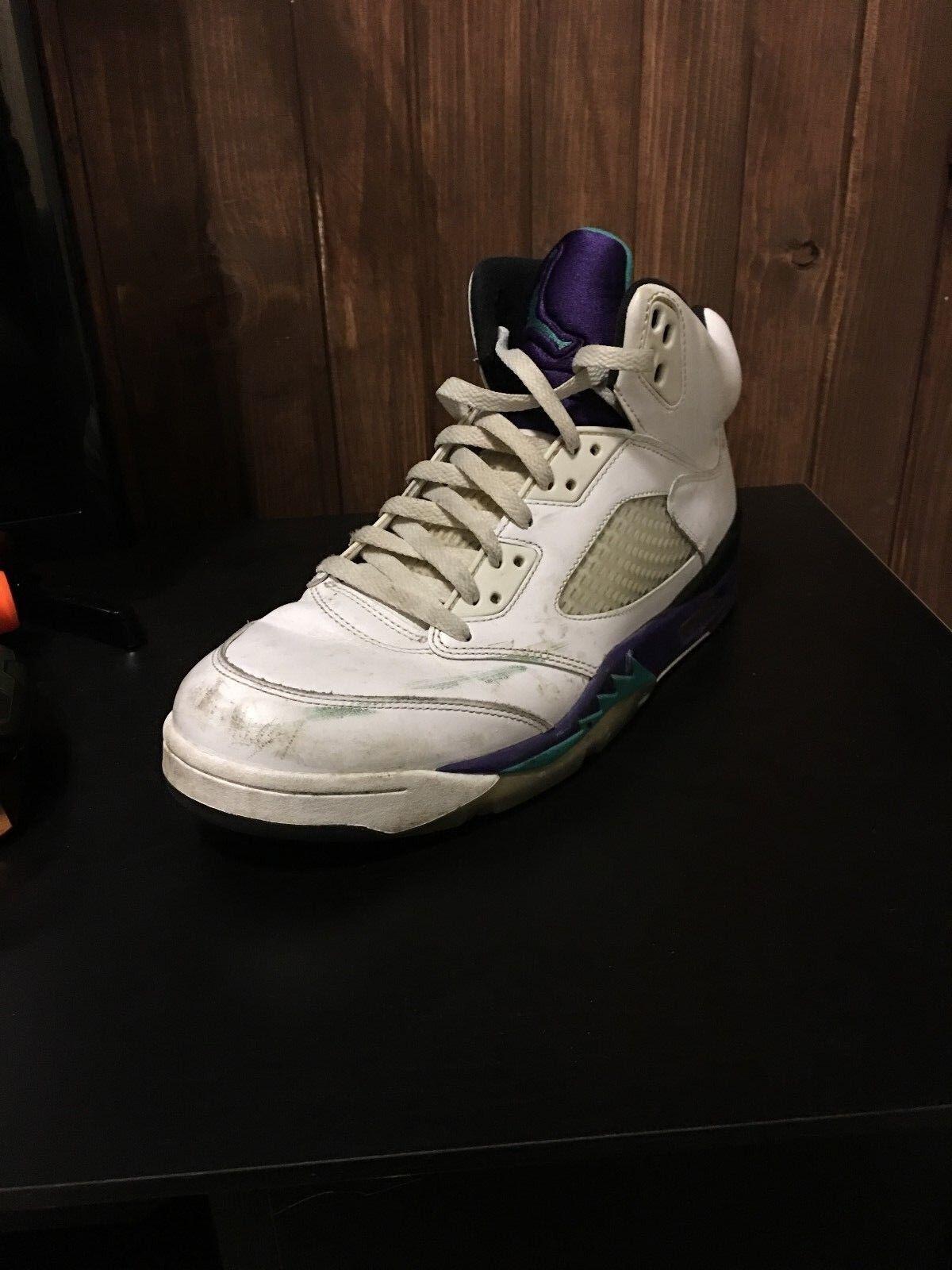 Nike Air Jordan 5 Grape 2018 Sz 10 Retro White RARE Casual wild