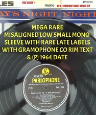 "BEATLES "" A HARD DAY'S NIGHT ""SuPER MEGA RARE UK 69 MISALIGNED SMALL MONO SLEEVE"
