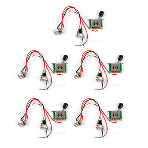 5pcs prewired guitar wiring harness 250k pots 3 way switch for tele