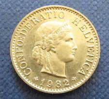 Münze 5 Rappen Schweizer Franken 1982 aus Umlauf gültiges Zahlungsmittel
