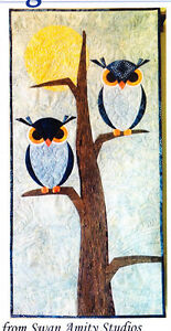 The-Night-Watchmen-cute-pieced-amp-applique-owl-wall-quilt-PATTERN