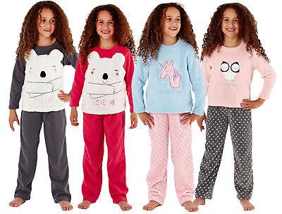 Le Ragazze In Pile Pigiama Twosie Kids Lounge Set Unicorno Orso Principessa Gift Set Size-mostra Il Titolo Originale