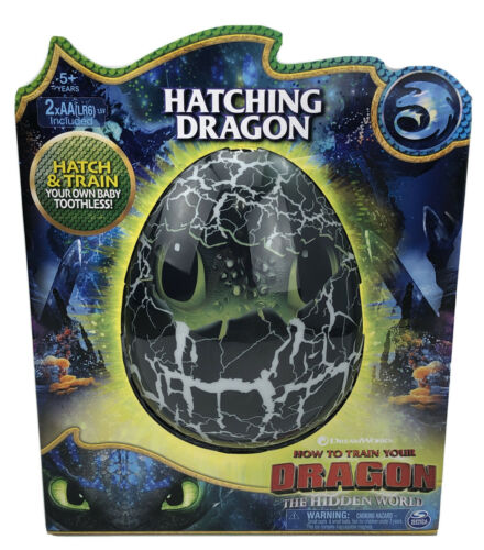 New How To Train Your Dragon Hatching Toothless Dragon Egg Spin Master SEALED