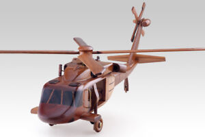 BLACKHAWK UH60 HELICOPTER AIRPLANE HANDMADE WOODEN MODEL MILITARY HOBBIES GIFTS