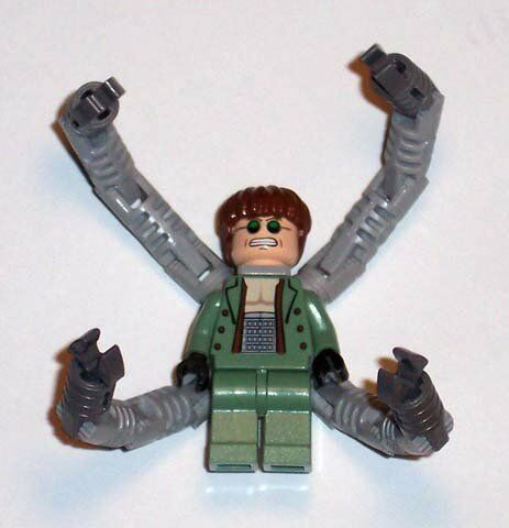 LEGO Spiderman  Dr Octopus   Doc Ock with 4 Robot Arms Minifigure