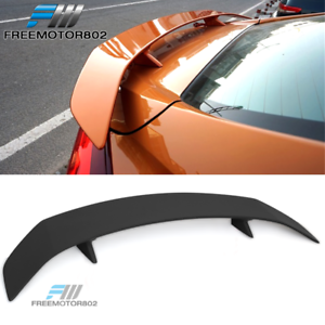 Trunk Spoiler Universal Fitment ABS Black Trunk Spoiler Deck Wing With 2 Posts /& LED Turn Signal Light By IKON MOTORSPORTS
