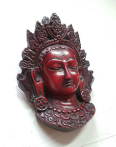 Red Color Resin Tara Mask Wall Hanging 5 Quot Height Ebay