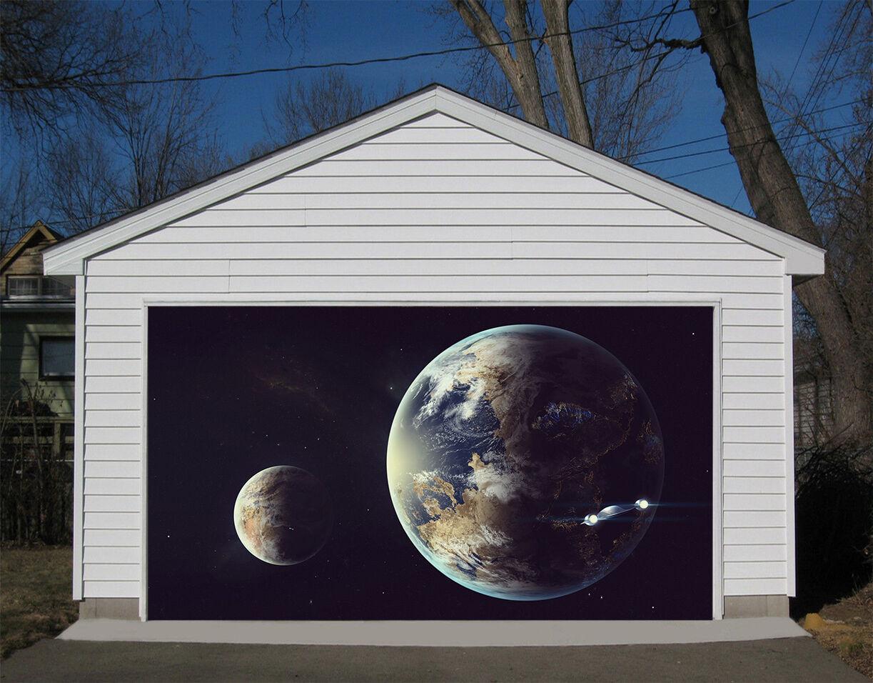 3D Spazio Pianeta Garage Porta Stampe Parete Decorazione Murale AJ WALLPAPER IT