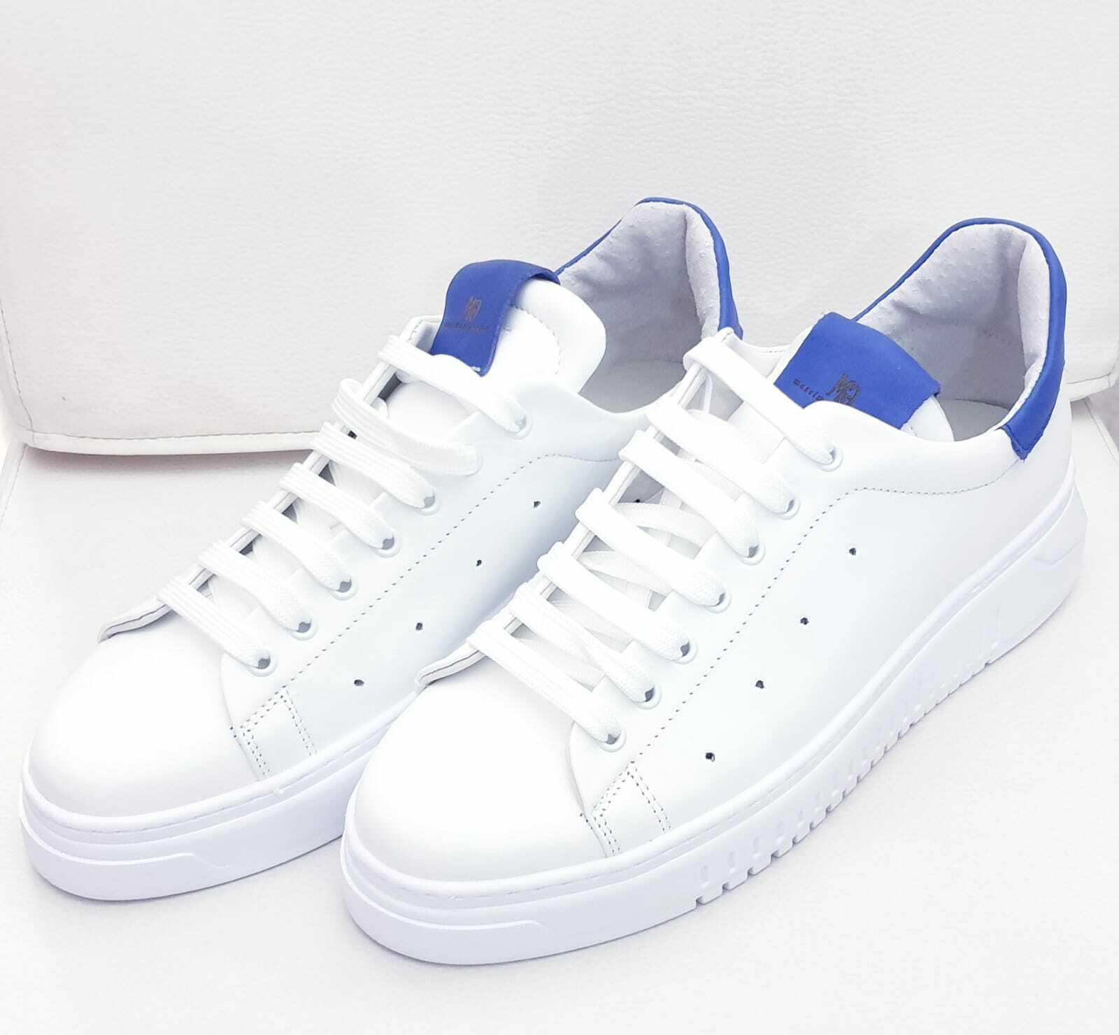 zapatos hombres zapatillas PELLE BIANCO GOMMA azul COME   GIANNINI zapatos