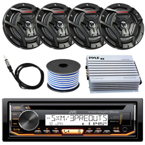 "Amplifier JVC KDR99MBS Marine CD Player 2x 100-W 6.5/"" Speaker Antenna Wire"