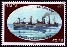 SS SANTA ELISA Cargo Ship WWII Malta Convoys (Operation Pedestal) Stamp