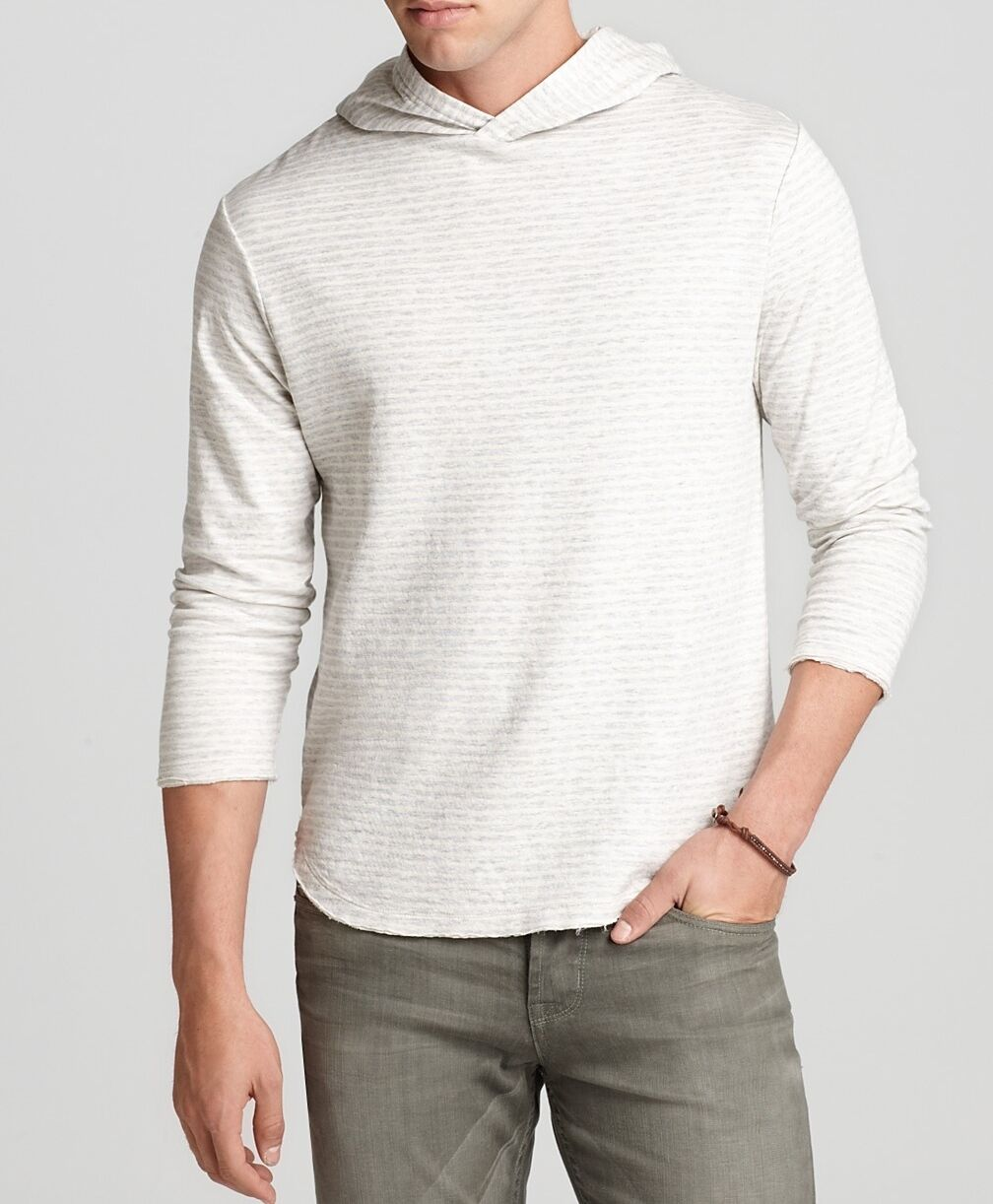Nwt 169 Joe's Long Sleeve Cotton Pullover Sweater Hoodie Shirt Top Natural S