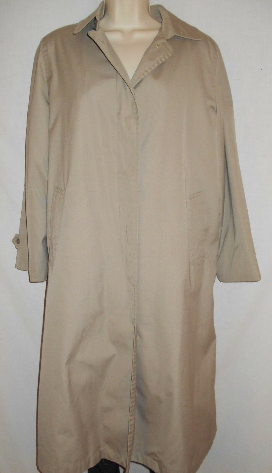 London London London Fog Trench Coat 10R Womens Tan Rain Overcoat VINTAGE USA CLASSIC 7t3 5db158