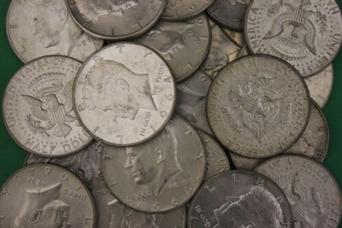 MAKE OFFER 2 Troy Ounces 1964 Kennedy Half Dollars 90/% Silver Junk Coins Bullion