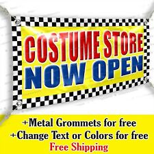 Costume Store Now Open Advertising Vinyl Banner Sign Many Sizes Usa Made Flag