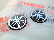 YAMAHA GENUINE 30MM TUNING FORK BLUE//SILVER DECAL EMBLEM STICKER BADGE *UK STOCK