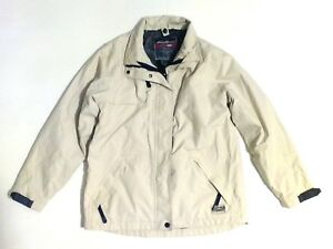 f52f02562e2 Details about XS Size Mens Eddie Bauer Weather Edge Beige Winter Coat  Jacket Fall