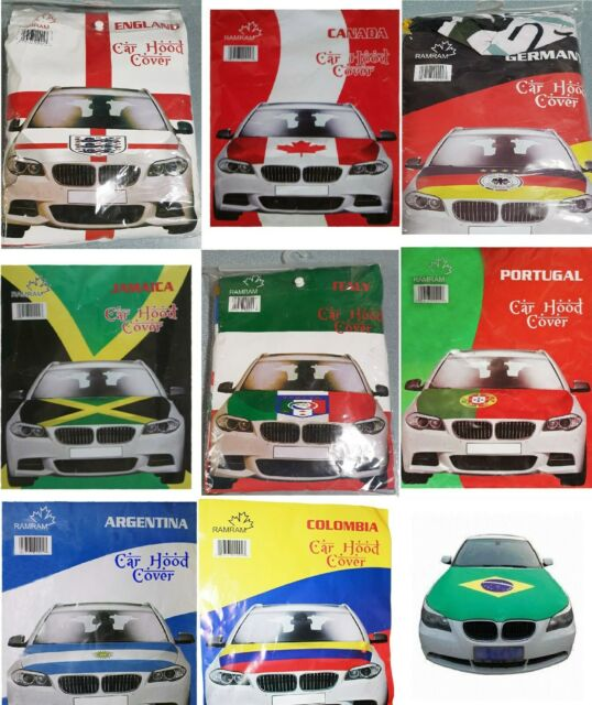 High Quality Country Flag Car Hood Cover Flag Stretchable