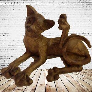 Cat-Figurine-Persiflage-Present-Vintage-Decoration-World-Der-Animals-Cats