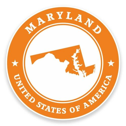 2 x Maryland USA Vinyl Sticker Car Travel Luggage #9392
