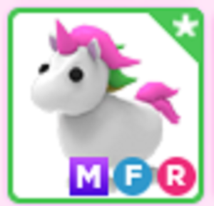 Mega Neon Fly Ride MFR Unicorn Roblox Adopt me