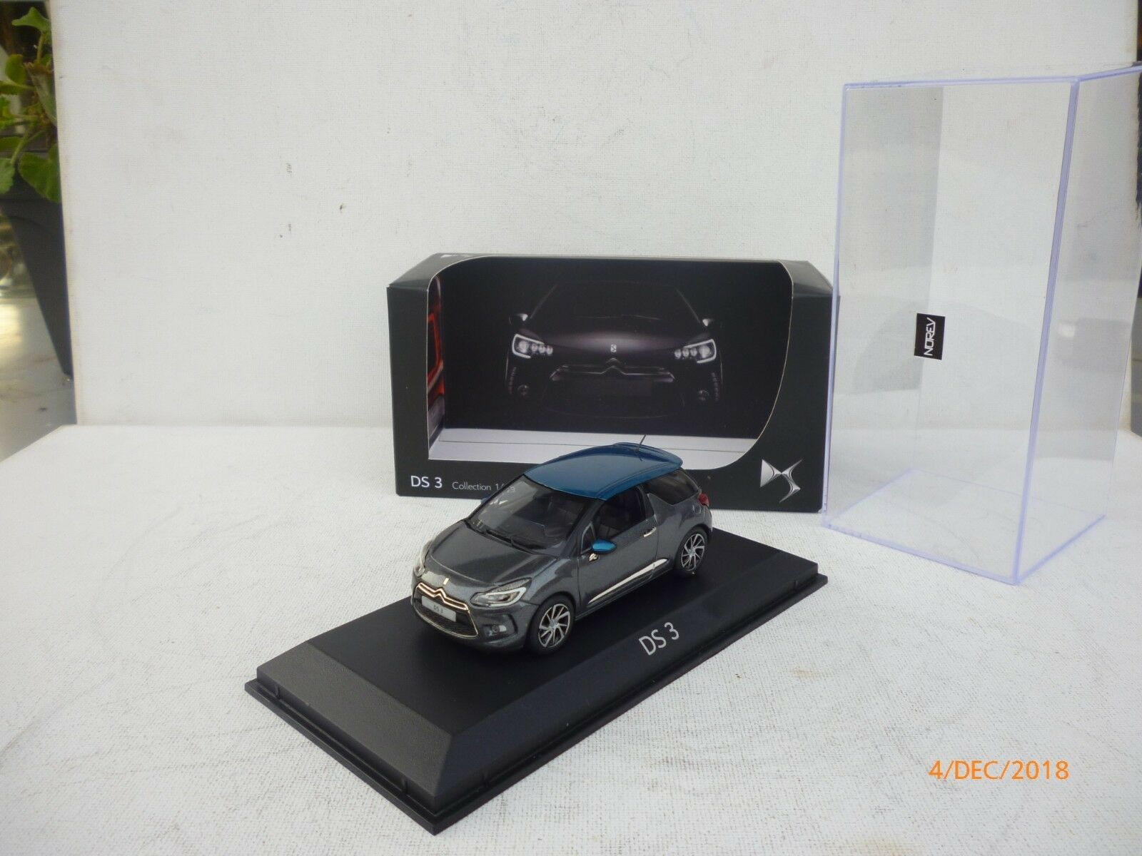 Citroen DS 3 2015 1 43 Norev AMC019487 gris     azul New IN BOX 91d6a8