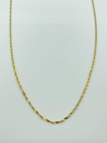Solid 14k Gold Diamond Cut Twist Chain