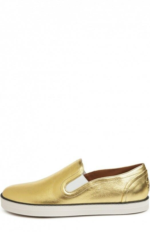 BOTTEGA VENETA Women's Metallic gold Leather Sneakers  EU 39 US 9 UK 6  NEU