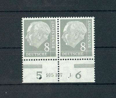 """Sonderabschnitt Bund Nr.182han ** Unterrandpaar Han-nummer """"915 107 1"""" Me 90,-++ Deutschland Ab 1945 117126"""