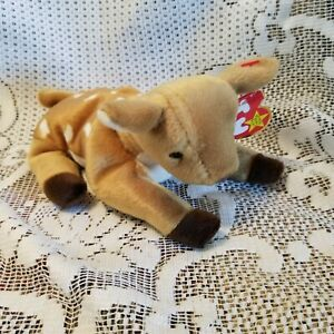 Whisper 1999 Ty Original Beanie Baby Deer with Date Error on Tush vs Hang Tag