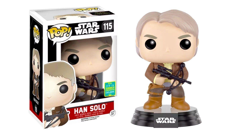 Sce Exclusiv Star Wars Han-Solo mit Bowcaster 9.5cm Vinyl Pop Funko Brandneu