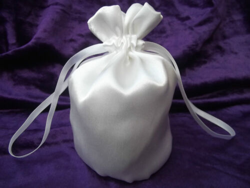 NEW GIRLS Communion various trims Dolly bag in WHITE satin bridesmaid