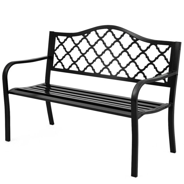 Magnificent 50 Patio Garden Bench Loveseats Park Yard Furniture Decor Cast Iron Frame Black Ibusinesslaw Wood Chair Design Ideas Ibusinesslaworg