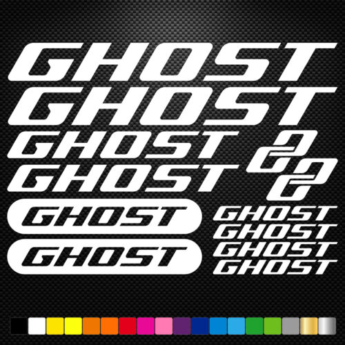 Ghost Vinyl Decals Stickers Sheet Bike Frame Cycle Cycling Bicycle Mtb Road