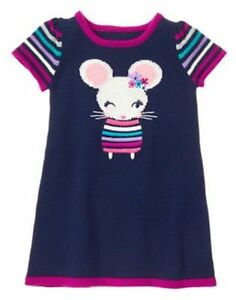 NWT Gymboree Charm Class Flower Sweater Dress 12 18 24M 2T 3T Toddler Girl