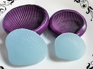 Image is loading silicone-shell-mold-seashell-molds-homemade-Food-Safe-