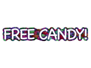 FREE-CANDY-Novelty-Van-Bumper-Sticker