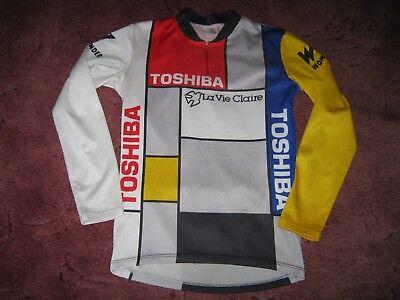 La Vie Claire Toshiba Wonder Italian L S cycling jersey  S   ec45d9010